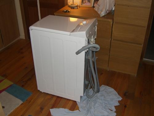 Lavadora en el dormitorio