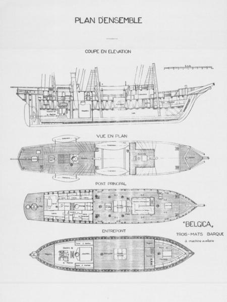 El barco Bélgica