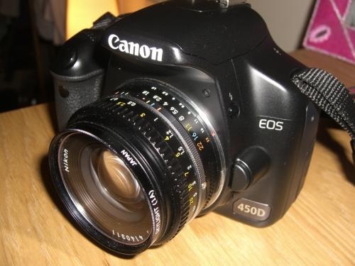Canon con lente Nikon