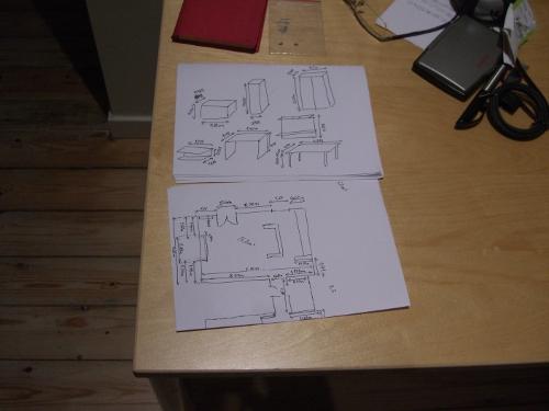 Planos piso y muebles