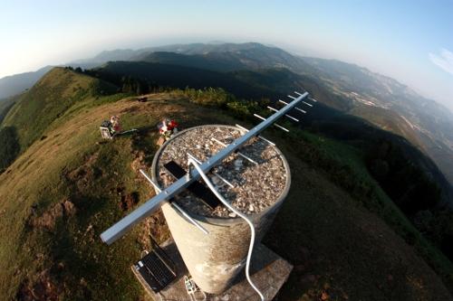 Antena en el monte de Bilbao