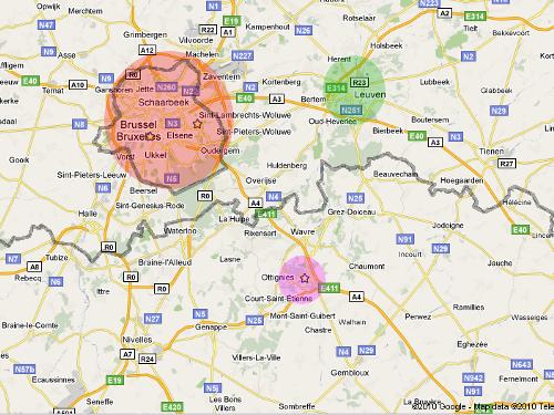 Nueva Lovaina, Lovaina y Bruselas