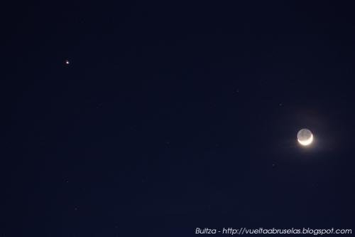 Conjunción Luna y Júpiter