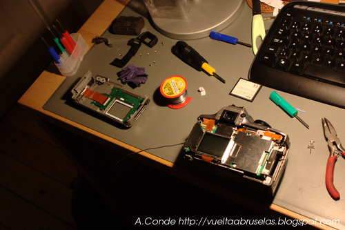 Canon 300D disassembled