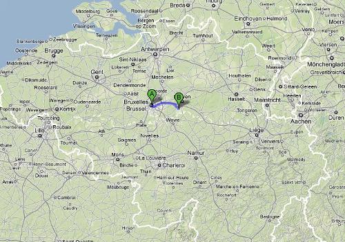 Mapa de la situación del bosque de Meerdalbos
