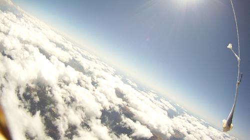 Descendiendo entre las nubes