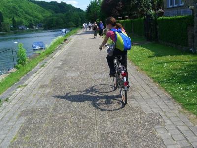 sarah en bici