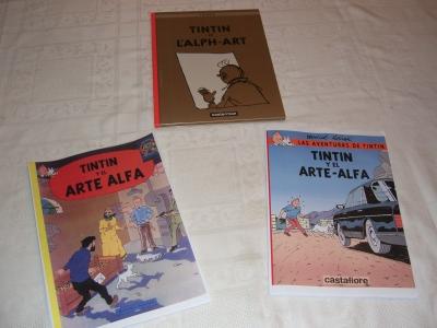 Tintin y el arte alfa en 3 versiones