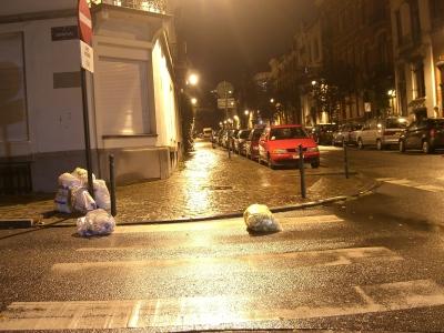 Basura en Bruselas