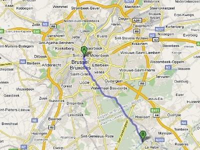 Mapa a La Hulpe